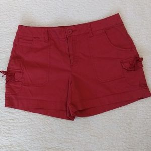 Faded Glory Stretch Fit Women's size 14 Shorts Red